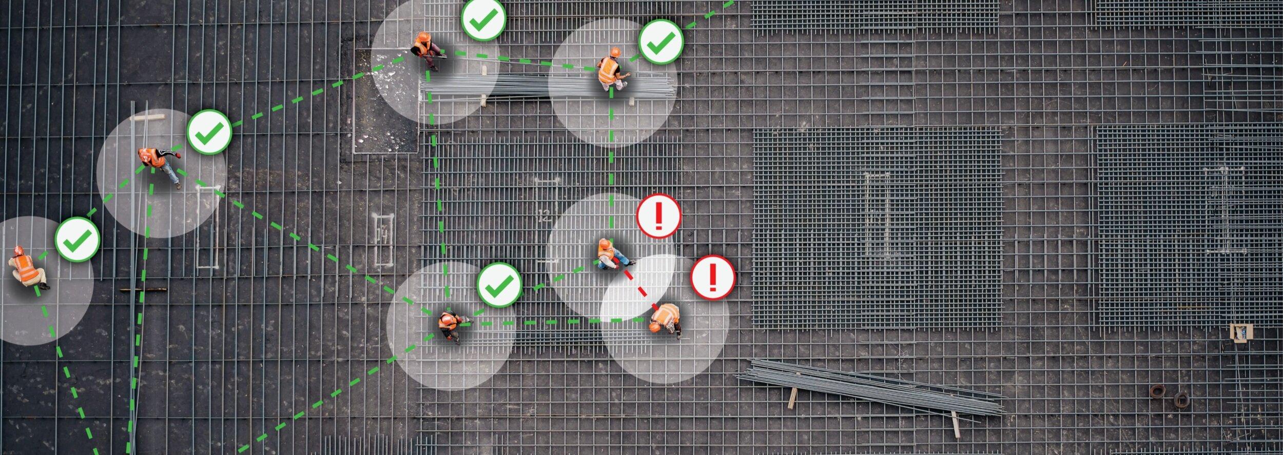 Mantener la distancia de seguridad en entornos laborales